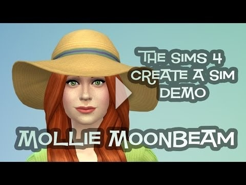 Mollie Moonbeam in The Sims 4 CAS Demo!