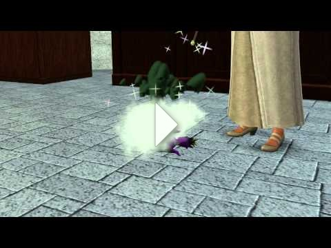 The Sims 3 Dragon Valley: Purple Dragon hatching