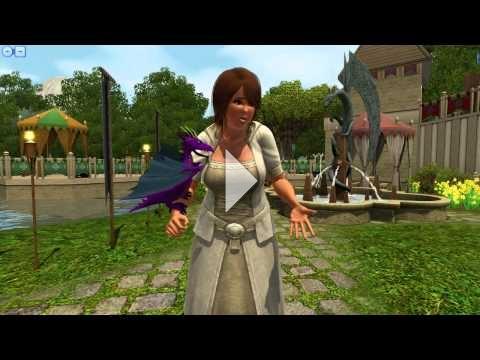 The Sims 3 Dragon Valley - Purple Dragon