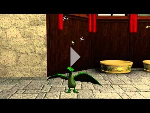 The Sims 3 Dragon Valley: Green Dragon hatching