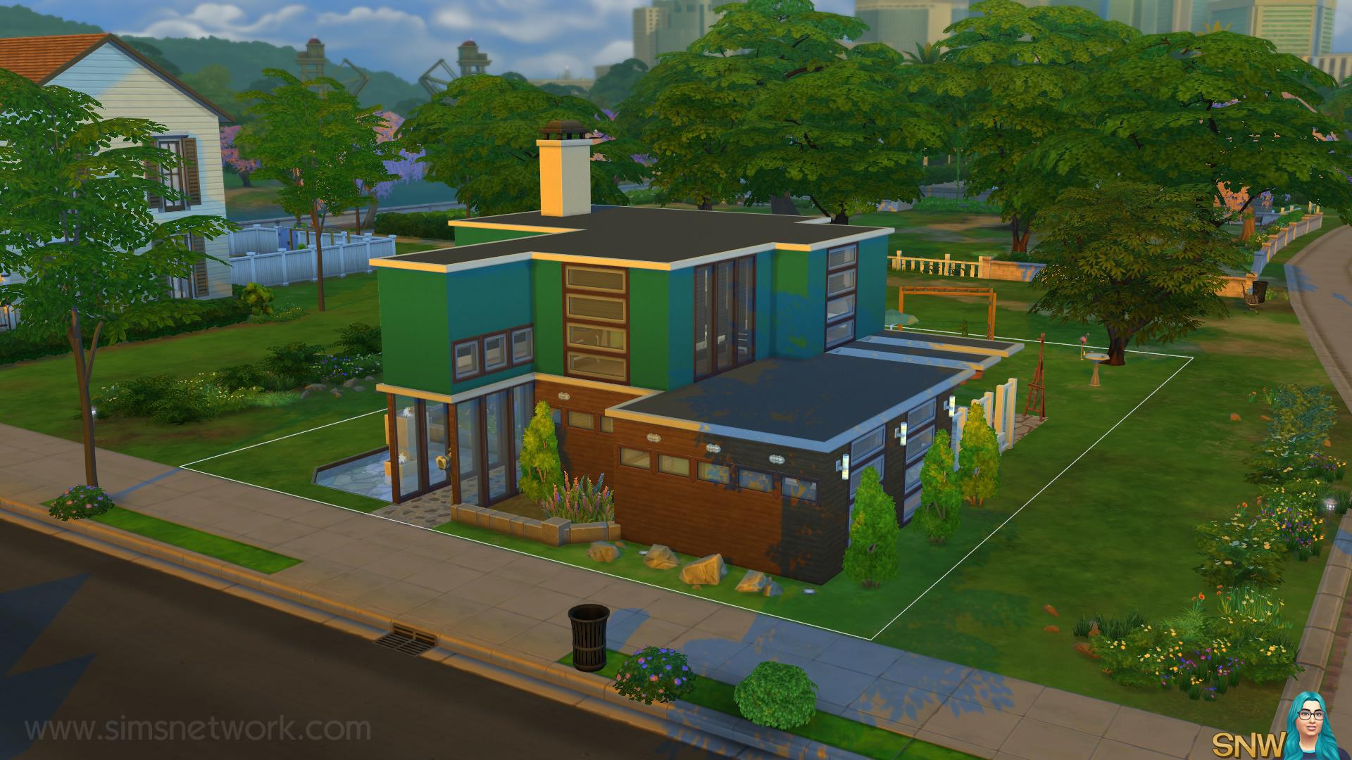 Mid Century Modern Huis In De Sims 4 Snw Simsnetwerk Com