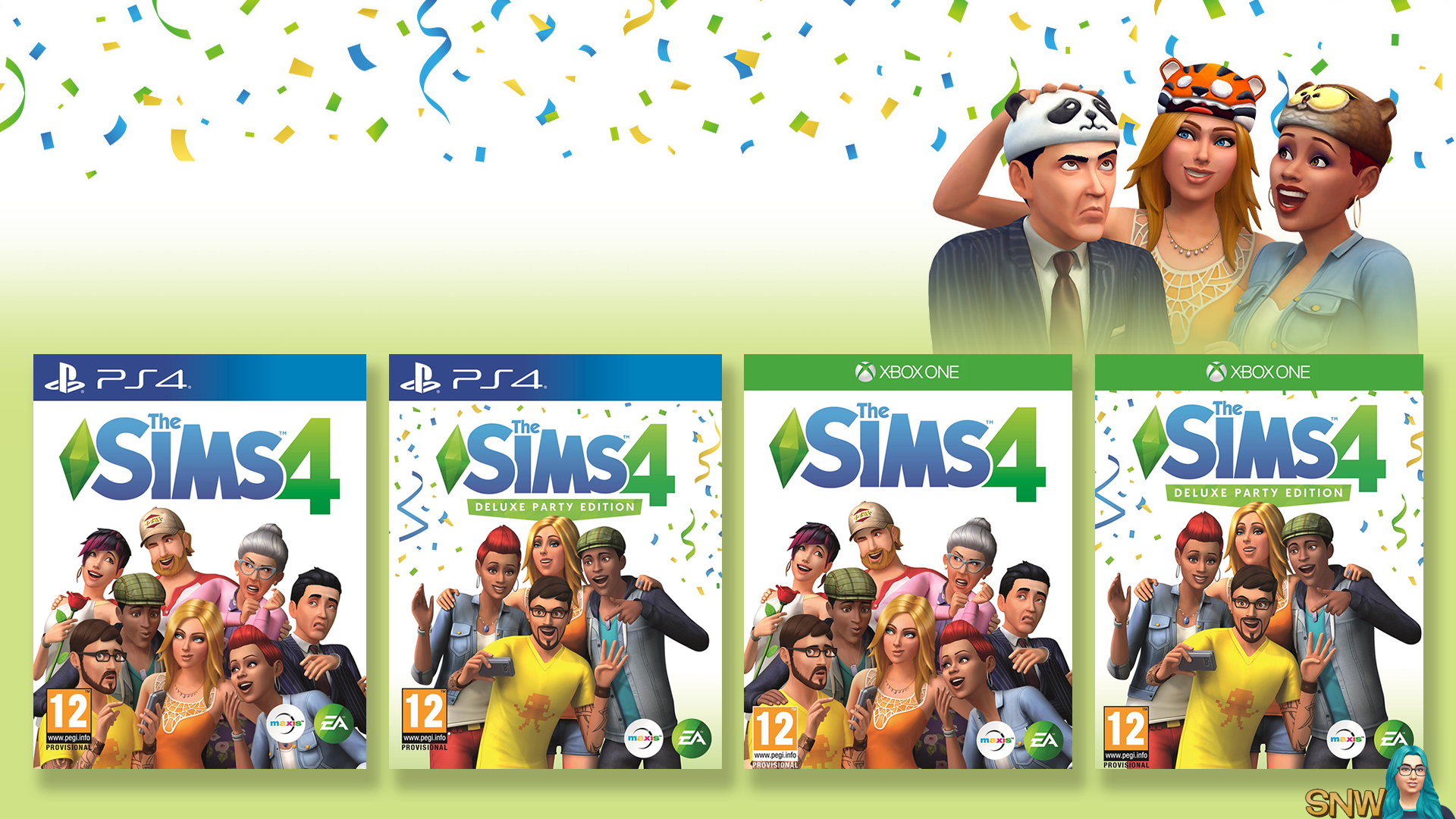 The Sims 4 on consoles PS4 Xbox One press release
