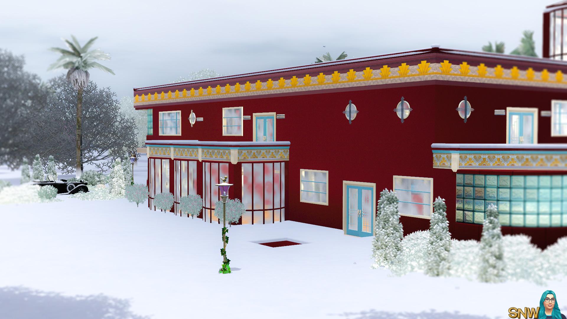 Kerstmis art deco huis snw simsnetwerk.com