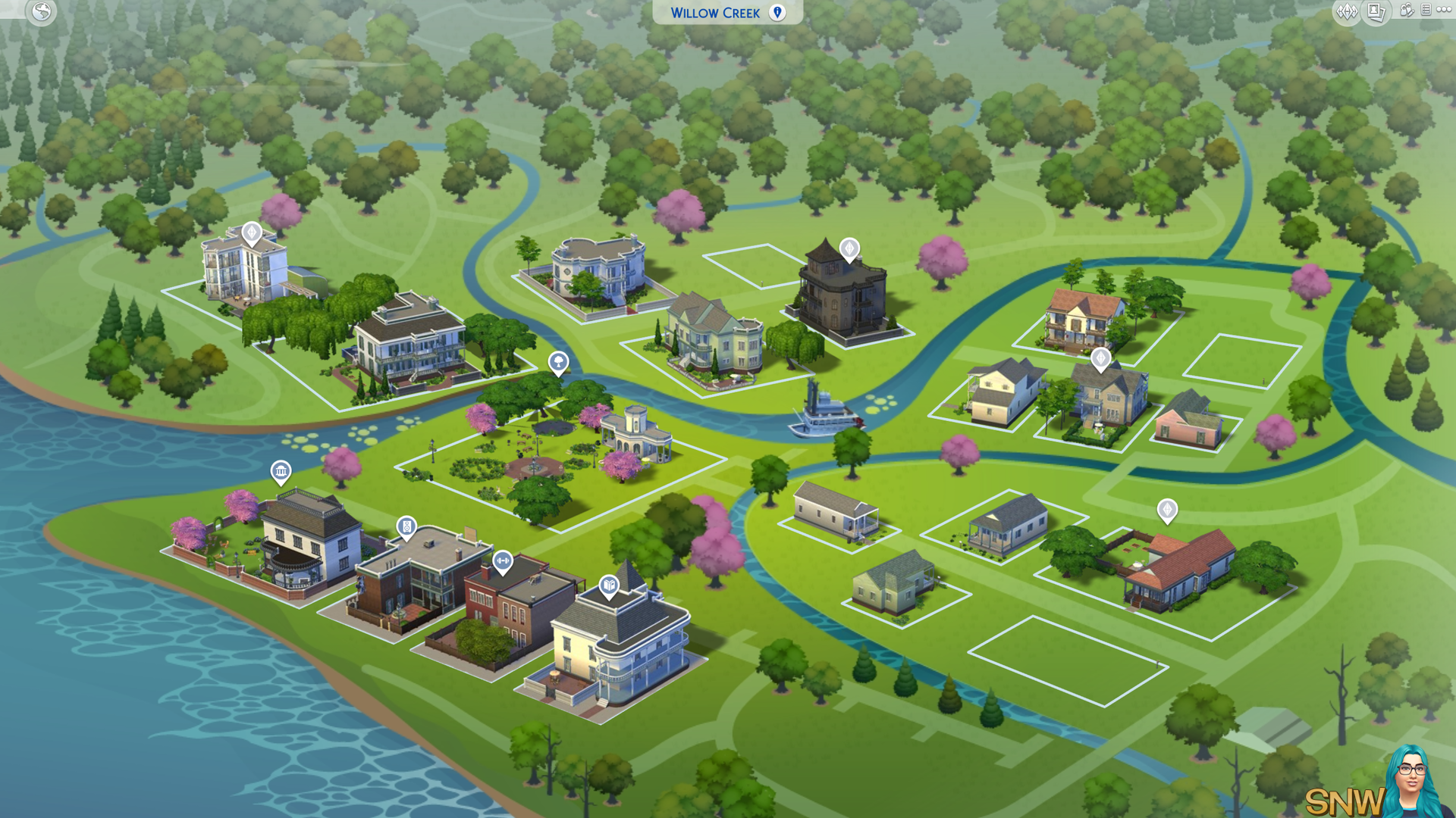 The Sims 4: Willow Creek world