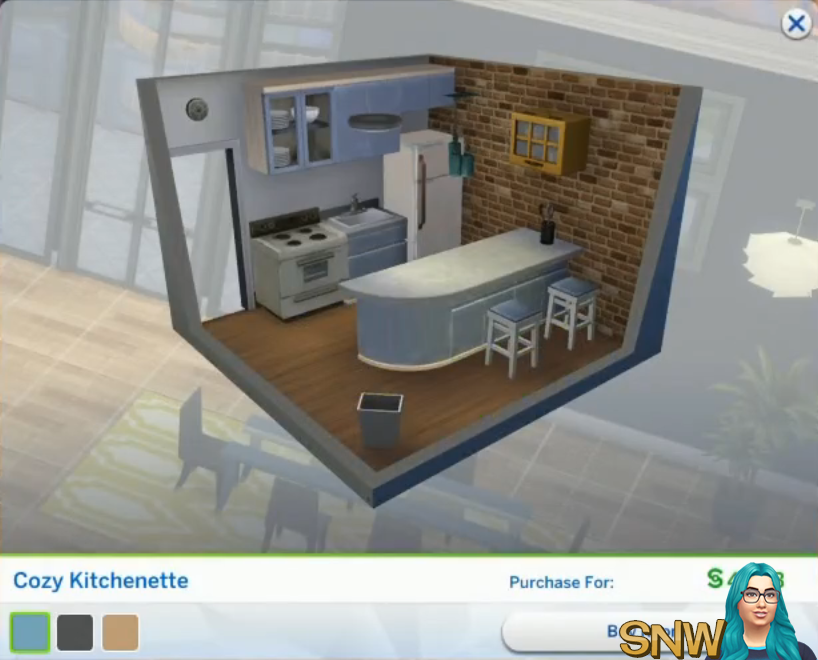 The Sims 4: City Living Styled Rooms - Cozy Kitchenette