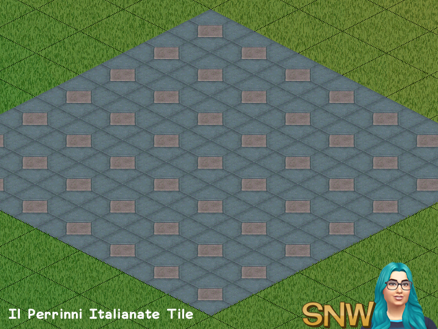 The Sims - Il Perrinni Italianate Tile