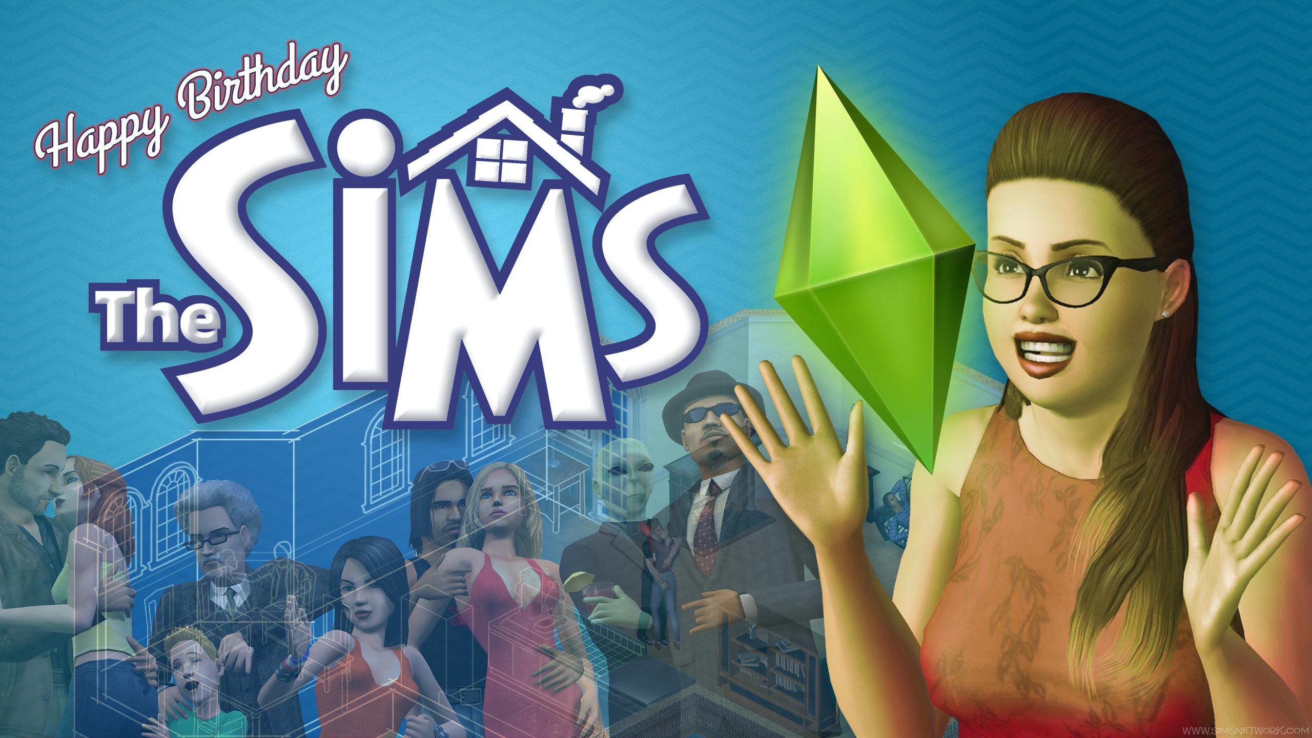 De Sims Verjaardag Wallpapers Snw Simsnetwerk Com