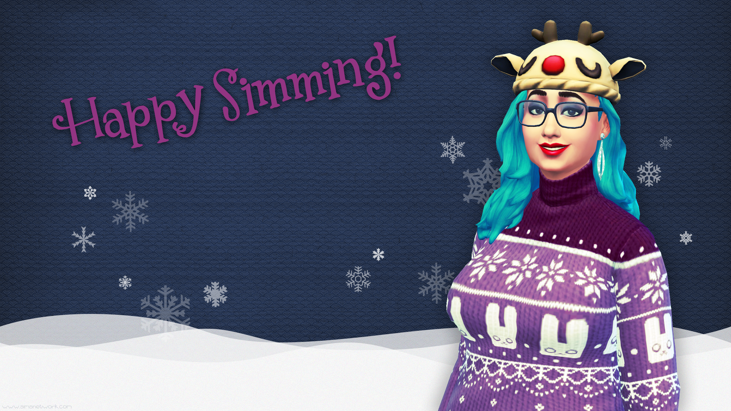 Happy Simming Christmas 2015 wallpaper